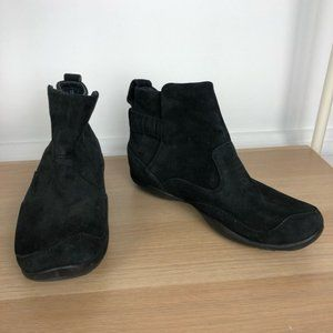 DANSKO leather suede black slip on booties size 11
